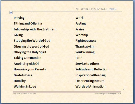 Spiritual Essentials